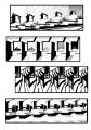 """Галина Протчева. """"Нюансный ряд.Эскизы"""". Тушь, 20х30, 2007г."""